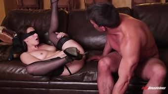tempting the real world damsel in attractive lingerie gets fucked hardcore after getting her asshole tapped