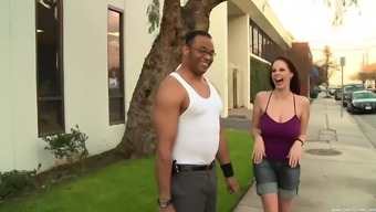 Naughty stud finally chated Gianna Michaels into eye-catching his dick