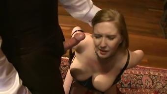 Crazy Bondage Scene With A Super Busty Blonde Babe