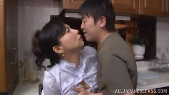 Mai Itou heated mature Oriental baby gets fucked in the cooking area