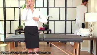 FantasyMassage Sarah Vandella Massaged While Calling Husband