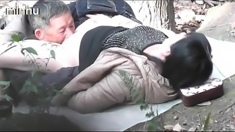 Asian old man fuck whore in wood  3 inceztporn.com