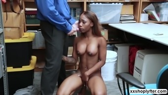 Ebony shoplifter sarah banks pleasure lps big hard cock