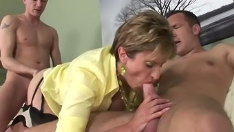 Two different Gentlemen Fuck Female Sonia In Warm Threesome