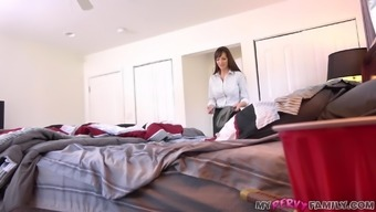 Hot Mom Finds Young Stud Son's Condoms And Shows Him How