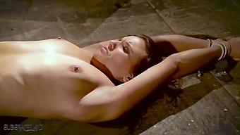 Tied up slave made to orgasm in bondage sex