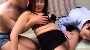 Toying blowjob touching oriental Chinese people