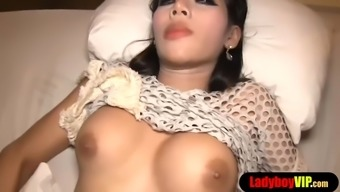 Hot anal sex with a cute asian ladyboy bareback style