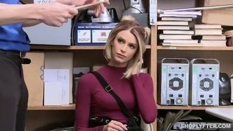 To get released guilty sexy auburn hottie Emma Hix gets poked hard