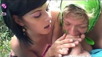 A pic nic of a perverse family of farmers turns into an orgy!