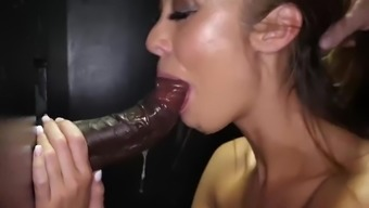 """HALF-KOREAN CHRISTY IS A """"P.D."""" PASTOR'S DAUGHTER IN THE GLORYHOLE"""