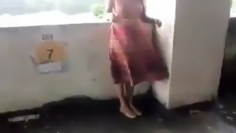 Mallu gf flashing in car park