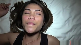 Asian Girl First Black Cock and Creampie with Tourist