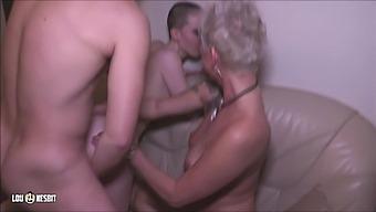 young Boy's first FFM Threesome
