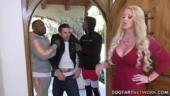 Massive long BBC penetrates soaking pussy of giant bottomed Alura Jenson