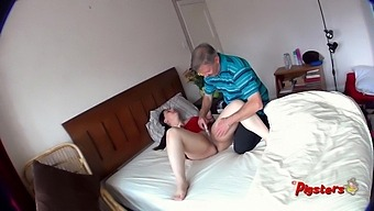 Spy Cam View Of Old Man Masturbating And Fucking Curvy Young Model