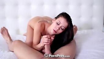 Horny Johnny castle fucks girlfriend Alaina Kristar and ejaculates in pussy