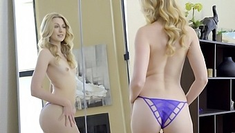 Pale blondie Alexa Grace craves for balls deep fucking with her lover
