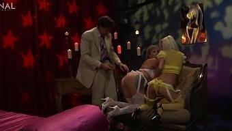 Sexy model Adrianna Nicole enjoys having a FFM threesome with a couple