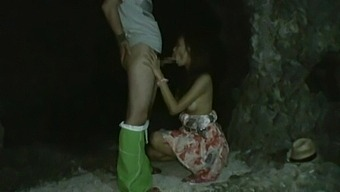 Wild outdoors fucking with small tits Japanese hottie Akina