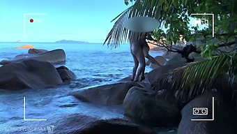 voyeur spy, nude couple having sex on public beach - projects