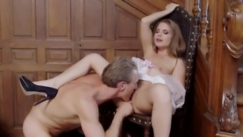 Infrequent sight along with Alessandra Jane touching and fucking hard