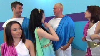 Aiden Ashley and Gabriella Paltrova enjoy being a section of an orgy