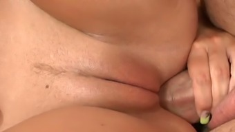 Passionate PAWG female ointments on fat light colored incline while cycling it