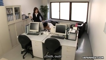 Gorgeous Japanese people person-in-charge results in the laziness professional please her