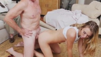 Old mankind little date and old grand father cumshots snapchat Molly Brings in Her Keep