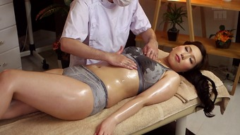 Sizzling Japanese people milf located on the massage tables for finger fucking