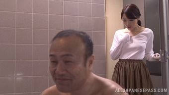 Cute companion inside a pleated mini skirts hack by kissing off another adult man