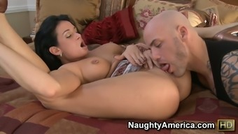 69 put along with Tory Road doing a profound throat sucking and starting throughout the phallus