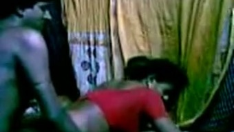 Perverted Indian maid got fucked hard in their puss by buddy in her own space