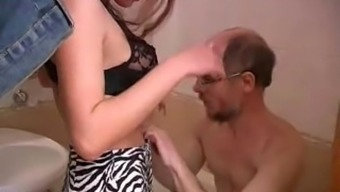 Stepfather and stepdaughter do-it-yourself