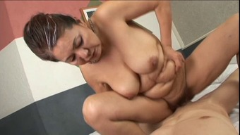 anal along with oriental granny