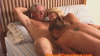 Granny and Grandpa fuck Daughter and Offspring