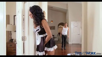 Horny Maid gets Incline at work