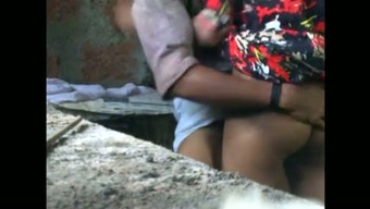 Hot concealed cam curtail by having friend making love along with maid