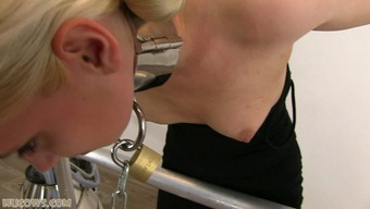 Severe sentence for brown intercourse slave on milking machine