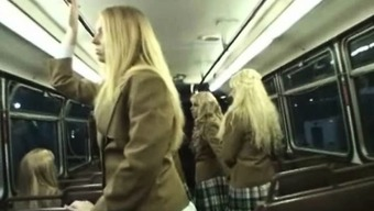 Coed Gives Handjob to the Perv within the Train!