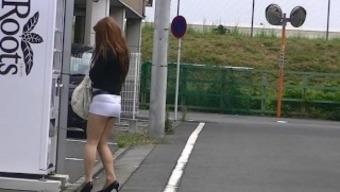 japanese MILF shameful exposure in sarong footware real world exhibition!