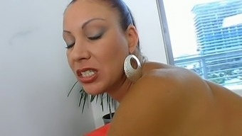 Hot sexploitress Vanessa Videl tickles her clit and gives best ever blowjob