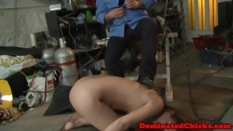 Eurobabe abused and outstanding by maledom