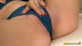 Gorgeous dark gal in a attractive tits wear gets her bald pussy laid a hand in that case drilled serious util height