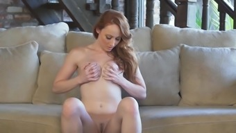 Redheaded plays back with her pussy in tough techniques