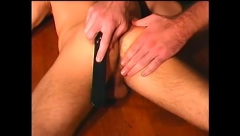 BDSM butt brisk immersed nose and anus for a slave