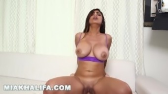 MIA KHALIFA - Getting excess incline from J-Mac behind the images! (mk13784)