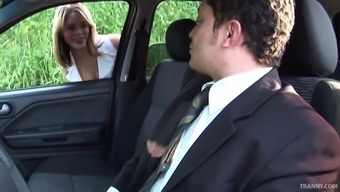 High priced tranny hooker gets butt fucked by a entrepreneur