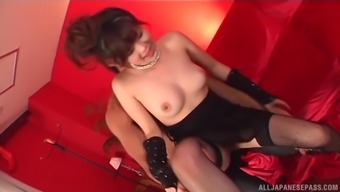 Japanese sweetie Rural china Yuki does soiled elements for getting a taste of cum